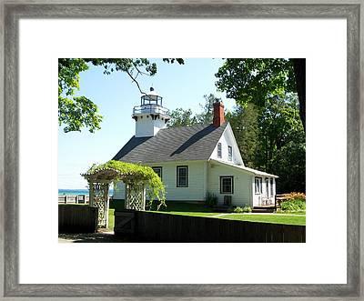 Old Mission Lighthouse Framed Print