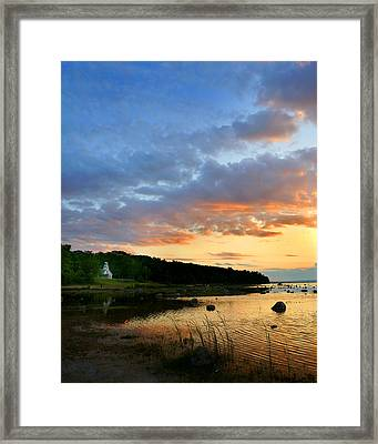 Old Mission Point Framed Print