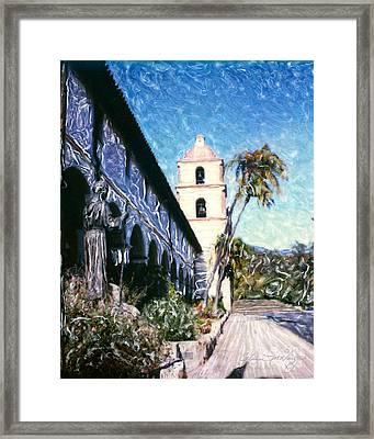 Old Mission Santa Barbara Walkway Framed Print by Glenn McNary