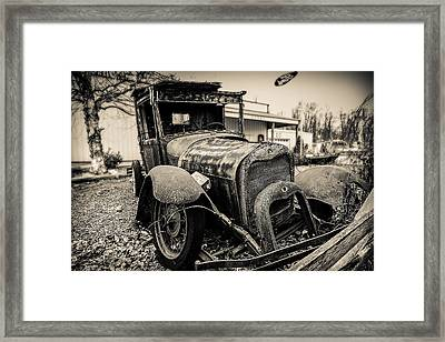 Old Model A Pickup Framed Print by Keith Allen