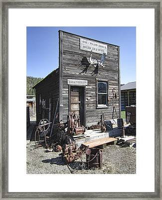Old Molson Ghost Town Assay Office Framed Print