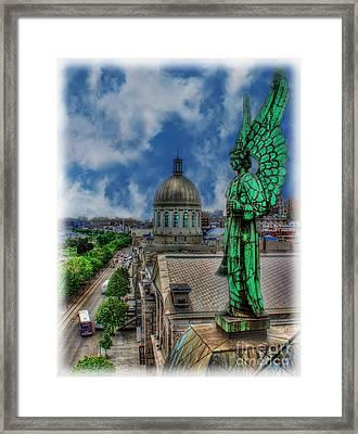Old Montreal Angel II Framed Print by Lee Dos Santos