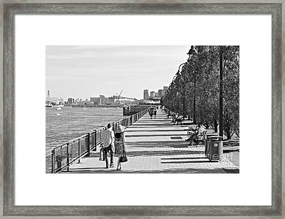 Framed Print featuring the photograph Old Montreal by Cendrine Marrouat