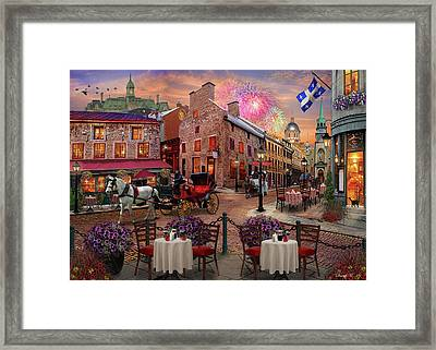 Old Montreal Framed Print by David M ( Maclean )