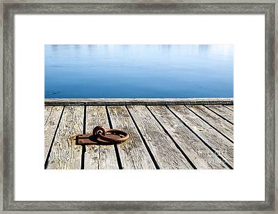 Framed Print featuring the photograph Old Mooring Loop by Kennerth and Birgitta Kullman