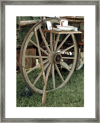 Old Morning Scene Framed Print by Kae Cheatham