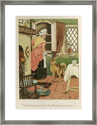 Old Mother Hubbard Framed Print by British Library