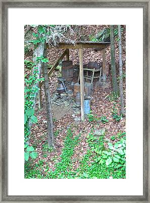 Old Mountain Still Framed Print