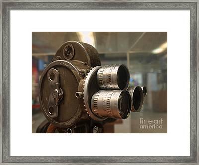 Old Movie Camera Framed Print