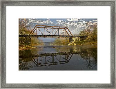 Old Murphy Railroad Trestle Framed Print by Debra and Dave Vanderlaan