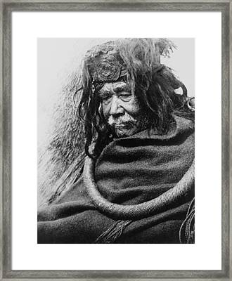 Old Nakoaktok Man Framed Print