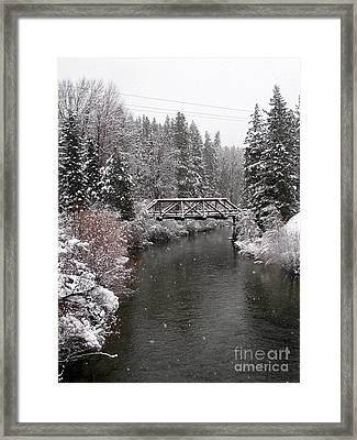 Old Nason Creek Bridge Framed Print by KD Johnson