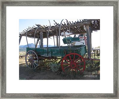 Framed Print featuring the photograph Old Native American Wagon by Dora Sofia Caputo Photographic Art and Design