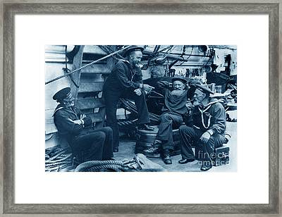 Old Navy Aboard The U S S Mohican In 1888 Framed Print by California Views Mr Pat Hathaway Archives
