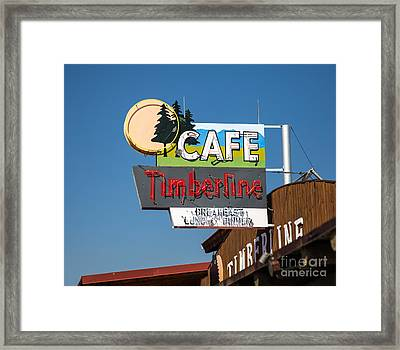 Old Neon Sign In West Yellowstone Framed Print by Edward Fielding