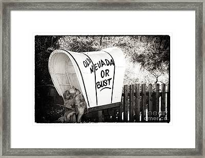 Old Nevada Or Bust Framed Print by John Rizzuto