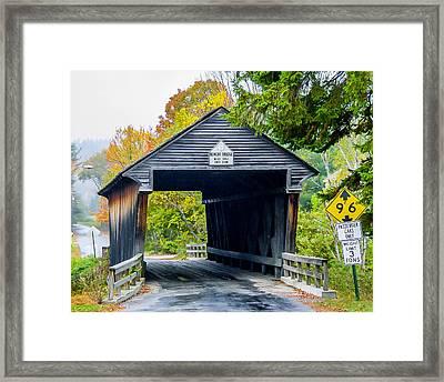 Old New Hampshire Bridge Framed Print