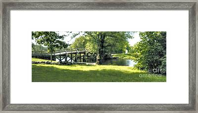 Old North Bridge Framed Print by Nigel Fletcher-Jones