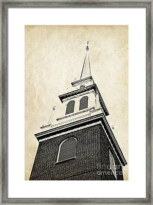 Old North Church In Boston Framed Print