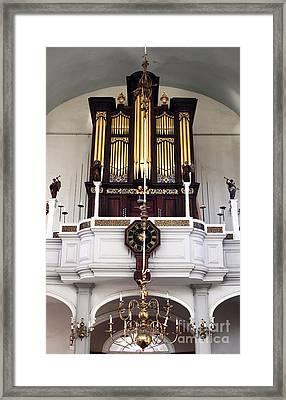 Old North Church Organ Framed Print by John Rizzuto