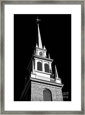 Old North Church Star Framed Print