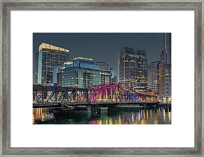 Old Northern Bridge Boston Harbor Framed Print
