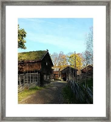 Old Norwegian Houses Framed Print