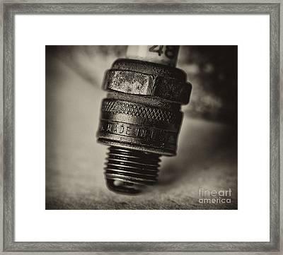 Old Number 48 Spark Plug Framed Print