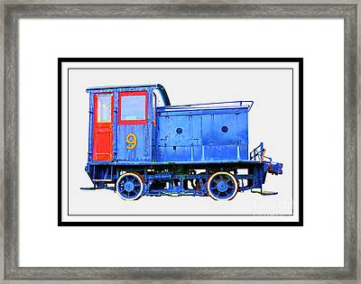 Old Number 9 - Small Locomotive Framed Print by Edward Fielding