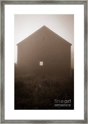 Old Nutt Barn In The Fog Framed Print