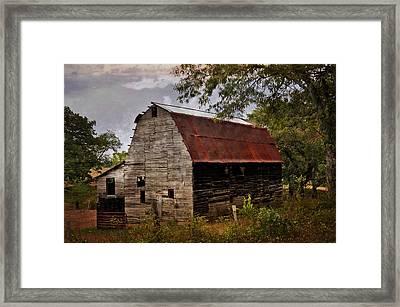 Old Oak Barn Framed Print by Marty Koch