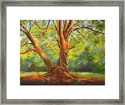 Old Oak With Vines Framed Print