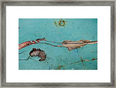 Framed Print featuring the photograph Old Ocean - Abstract by Jani Freimann