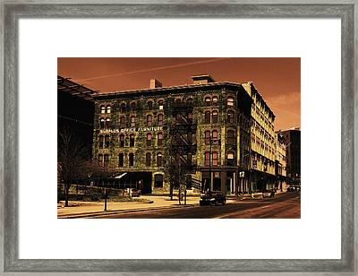 Old Office Furniture Building Framed Print