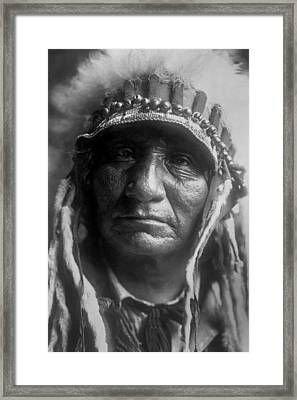 Old Oglala Man Circa 1907 Framed Print by Aged Pixel