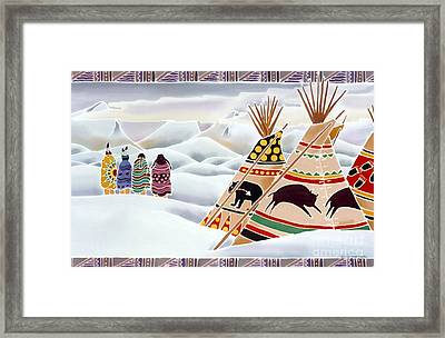 Old Ones Search The Sky Framed Print by Harriet Peck Taylor