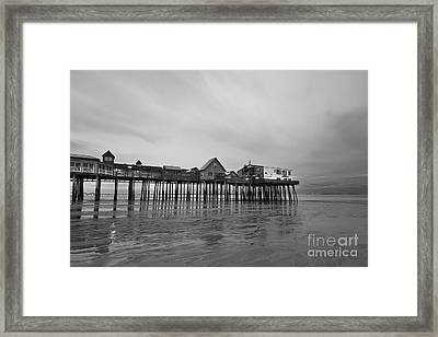 Old Orchard Beach Pier Framed Print by Katherine Gendreau