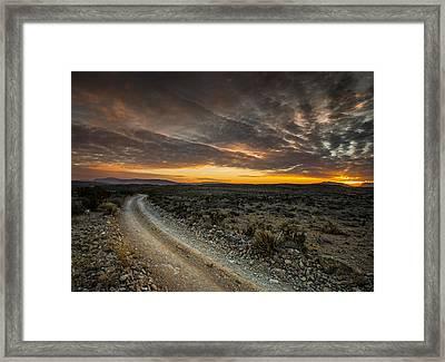 Old Ore Road Sunset Framed Print