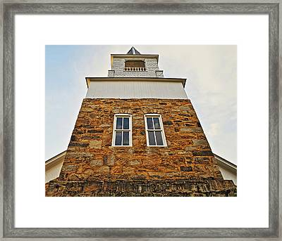 Old Organ's Steeple Framed Print