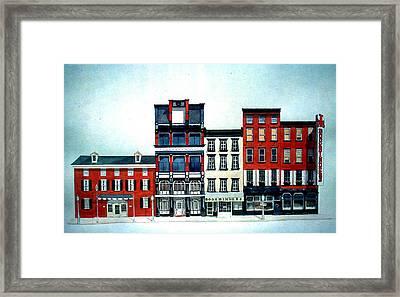 Old Original Bookbinders Framed Print