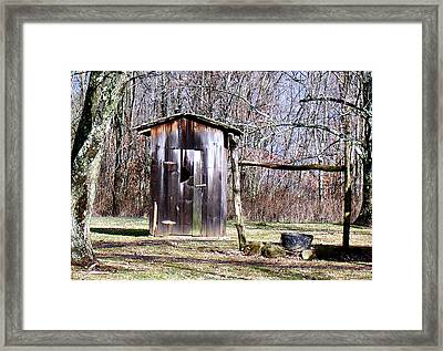 Old Out House Framed Print by Joy Reese