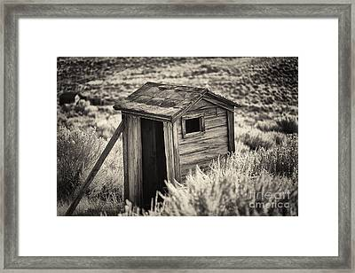 Old Outhouse In The Field Framed Print