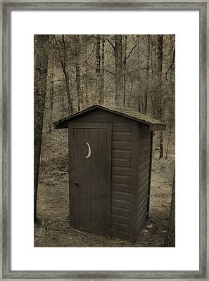 Old Outhouse Out Back Framed Print