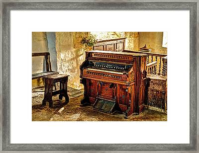Old Packard Organ Framed Print