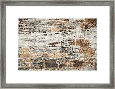 Old Painted Wood Abstract No.1 Framed Print by Elena Elisseeva