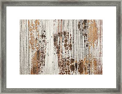 Old Painted Wood Abstract No.2 Framed Print