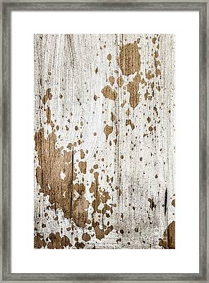 Old Painted Wood Abstract No.3 Framed Print