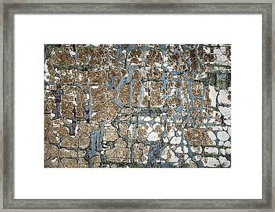 Old Painted Wood Abstract No.5 Framed Print
