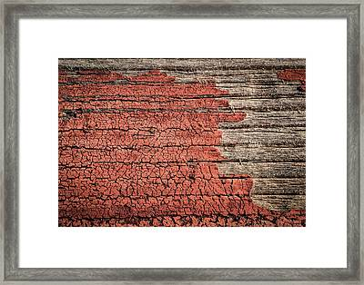 Old Painted Wood Framed Print