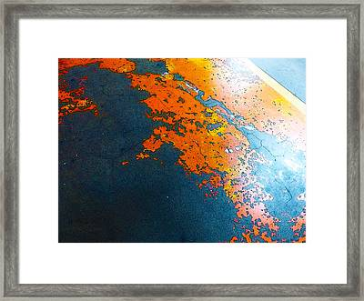 Old Parking Garage Floor 3 Framed Print